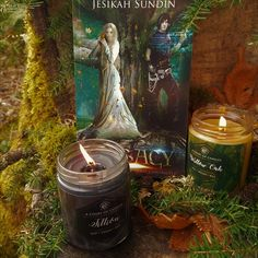 My characters have been transformed into story candles!!! *heart eyes* Aren't they GORGEOUS?! And they smell soooooooo good!!!! #books #YA #YAbooks #bookcandles #candles #storycandles #charactercandles #characters