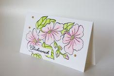 Grußkarte mit dem Set Farbenspiel der Jahreszeiten von Stampin' Up! Stampin Up, Card Ideas, Seasons, Stitch, Cards, Games, Basteln, Foil Stamping, Full Stop