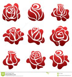 Rose Symbol Set Royalty Free Stock Photos - Image: 36712928