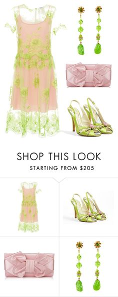 """""""Delicate"""" by naviaux ❤ liked on Polyvore featuring Blugirl, Giuseppe Zanotti, Valentino and Miriam Haskell"""