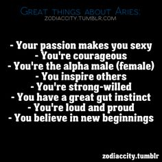 Great things about Aries