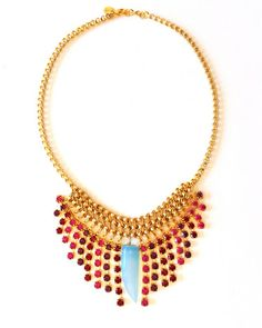 Turquoise and Amazonite  Mini Crystal Fix Necklace by JewelMint.com, $89.97