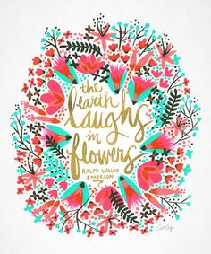 The earth laughs in flowers inspirational quote word art print motivational poster black white motivationmonday minimalist shabby chic fashion inspo typographic wall decor Typography Prints, Typography Poster, Typography Quotes, Word Art, Gold Throw Pillows, Throw Blankets, Throw Rugs, Branding, Gold Walls