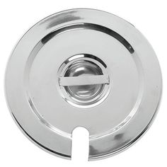HUBERT Notched Cover for 2 12 Qt Bain Marie Inset Pan Stainless Steel