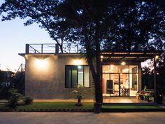 Home Design Loft Style From Thailand Modern Small House Design, Small Modern Home, Small Cottage Homes, Home Design Living Room, Rest House, Dream House Plans, Home Design Plans, Simple House, Little Houses