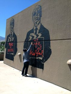 1000 images about street brainwash thierry guetta on for Mural by mr brainwash