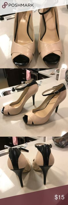 Pumps Nine West size 7 nude Peep toe pumps Nine West Shoes Heels