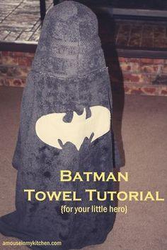 Hooded Batman Towel Tutorial