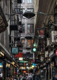 """Centre Place Melbourne: it's like a cross between Hogwarts Train Station and Times Square! And another of those wonderful places in Melbourne I loved to go! Melbourne Trip, Melbourne Laneways, Melbourne Australia City, Places In Melbourne, Melbourne Restaurants, Brisbane City, Melbourne Food, Perth Australia, Melbourne Victoria"