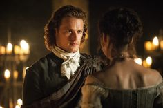 """The 'Outlander' Wedding — Official photos from Episode 107 """"The Wedding""""Caitriona Balfe and Sam Heughan, """"Claire Fraser"""" and """"Jamie Fraser"""""""
