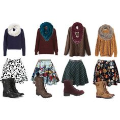 Skater skirts, combat boots, and infinity scarves