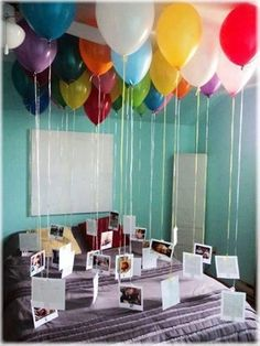 Number of balloons as the age they are turning...attach one memory to each balloon!