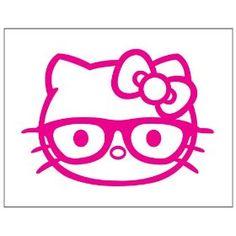 Hello Kitty Nerd Wallpaper Pick Color Hello Kitty Shades Hipster - Hello kitty custom vinyl stickers