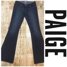 "Paige canyon jeans Excellent condition; Paige high rise canyon flares although these are not high rise in my opinion-- 34"" inseam Paige Jeans Jeans Flare & Wide Leg"