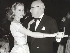 In-law: Kelly is seen here dancing with Prince Pierre de Polignac. Soon after this photo was taken, he would become her father-in-law