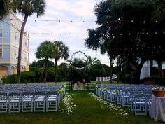 Wedding Ceremony on the North Lawn | Charleston, SC Weddings at Wild Dunes Resort #wilddunesweddings