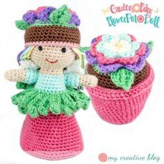 Garden Fairy Flower Pot Doll Crochet Pattern
