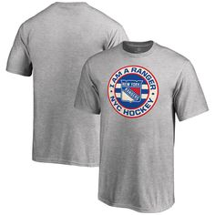 New York Rangers Youth Hometown Collection I Am A Ranger T-Shirt - Ash
