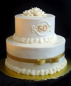 Something like this for the 50th anniversary cake