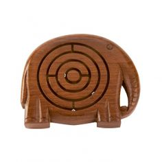 £9.00 Wooden Elephant Frustration Maze - test yourself to the limit!