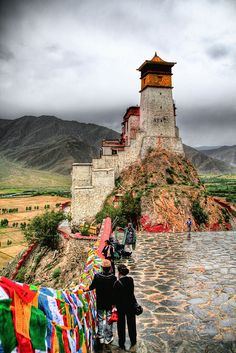 Yumbulangang Monastery - Tibet beautiful lake mountains ocean mountain beach escape escapes world vacation destination