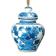 Blue-and-White Delftware Jar Christmas Ornament - Holiday - Clearance & Sale - The Met Store