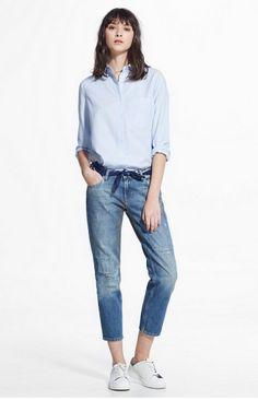 Boyfriend jeans - what to wear in spring