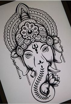 Lord Ganesha Lord Ganesha Kavipriyaram Ganesha tattoo This is lovely I d love to have the shirt buddha quote inspirational quotes words nbsp hellip Ganesha Drawing, Lord Ganesha Paintings, Ganesha Art, Ganesha Sketch, Ganpati Drawing, Buddha Drawing, Girl Drawing Sketches, Doodle Art Drawing, Cool Art Drawings