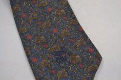 Mens Necktie Tie Whimsical Owl Bird Toile Floral Countess Wara Navy Red Brown   eBay