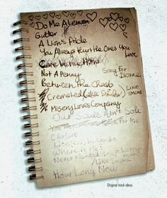 Amy Winehouse, titles for unrecorded tracks