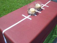 football tablecloth using tape
