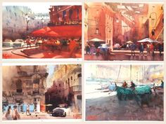 "Alvaro Castagnet Paris, Italy, Cuba, and Cinque Terre    Sorrento Harbour, Italy 09""x 12""   SORRENTO, ITALY Plein-Air"