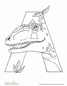 Let& hear a roar for the ABCs! This series of dino-shaped alphabet letters and dinosaur coloring pages is the perfect way to get kids excited about learning. These pages can also be used as classroom decoration Dinosaur Coloring Pages, Alphabet Coloring Pages, Colouring Pages, Coloring Sheets, Coloring Books, Dinosaur Worksheets, Writing Worksheets, Dinosaur Alphabet, Alphabet Letters