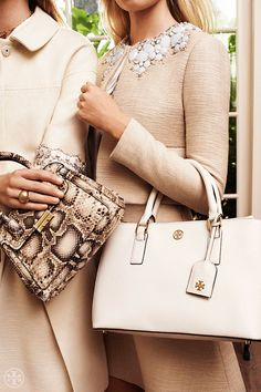 Lady's choice: The top-handle handbag — perfectly proportioned | Tory Burch Spring 2014
