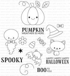 Spooky Smiles Stamp Set: Papertrey Ink Clear Stamps Dies Paper Ink Kits Ribbon