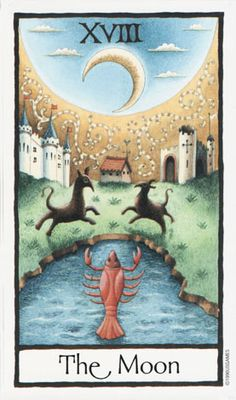The Moon ~ Old English Tarot