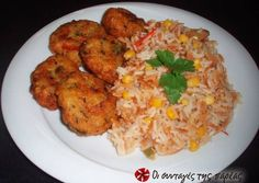 Greek Recipes, Vegan Recipes, Fun Cooking, Fried Rice, Kai, Food And Drink, Chicken, Ethnic Recipes, Foods
