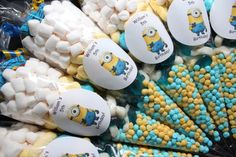 Minions Pre Filled Goody Cones Bags Birthday Sweets Party Personalised in Soft/ Chewy Sweets | eBay