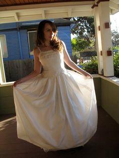 50s White Formal Dresses