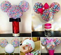 Minnie Mouse Lollipop Tree - Million Ideas Club Mickey E Minnie Mouse, Mickey Mouse Baby Shower, Theme Mickey, Mickey Mouse Parties, Mickey Party, Mickey Mouse Birthday, 3rd Birthday Parties, 2nd Birthday, Birthday Ideas