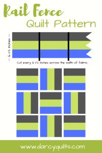 Rail Fence Quilt Pattern Tutorial- 10 Quilt Patterns to Make Today – Darcy Quilts Rail Fence Quilt Pattern Tutorial - 10 variations on this timeless quilt pattern to make it fresh and modern, from baby to bed size. Strip Quilt Patterns, Jelly Roll Quilt Patterns, Patchwork Quilt Patterns, Beginner Quilt Patterns, Modern Quilt Patterns, Strip Quilts, Quilting For Beginners, Easy Quilts, Quilt Tutorials