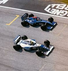 Ayrton Senna & Roland Ratzenberger at Imola during practice for the 1994 San Marino Grand Prix
