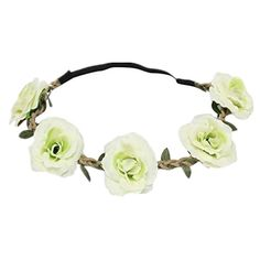 Susenstone New Style Floral Flower Party Wedding Hair Wreaths Headband Hair Band (Green). Susenstone is a registered trademark and the only authorized seller of susenstone branded products. Gender:Girls Material:Resin. Size:Adult Size(Design for Adjustable). Floral Flower Beach Style Women Girls Hairband Headband Festival Party Wedding. Beautiful for weddings, bridal, bridesmaids, festivals, etc. Easy to put on and creates a instant stunning new hair style.