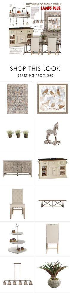 """""""Kitchen Designs with Lamps Plus"""" by thewondersoffashion ❤ liked on Polyvore featuring interior, interiors, interior design, home, home decor, interior decorating, Universal Lighting and Decor, kitchen and lampsplus"""