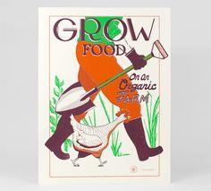 Organic Farm print by the Victory Garden of Tomorrow
