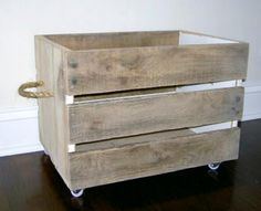 pallet crate | Do It Yourself Home Projects from Ana White