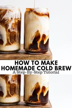How to Make Cold Brew Coffee - a step-by-step tutorial on how to make cold brew at home! #coldbrew #homemadecoldbrew #howtomakecoldbrew #coffee #coldbrewedcoffee