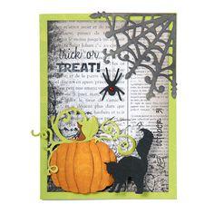Sizzix.com - Trick or Treat Halloween Card