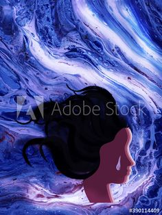 woman in the water blue background pattern texture - Buy this stock illustration and explore similar illustrations at Adobe Stock | Adobe Stock