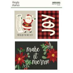 Simple Stories - Jingle All The Way Collection - SNAP Cards 25 Days Of Christmas, Cozy Christmas, Country Christmas, Scrapbooking, Scrapbook Page Layouts, Life Journal, Journal Cards, Project Life, Mini Albums